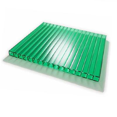 Поликарбонат сотовый зеленый