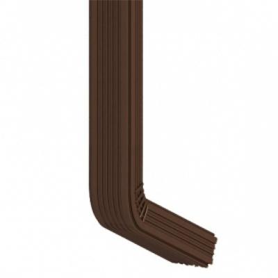 Труба водосточная с коленом коричневая