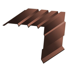 Планка торцевая 95*120*2000 (90*115*2000) 8017 коричневая