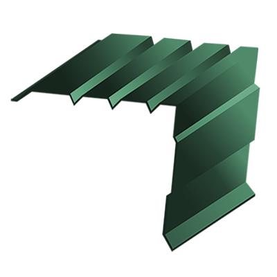 Планка торцевая 95*120*2000 0,45мм 6005 зеленый