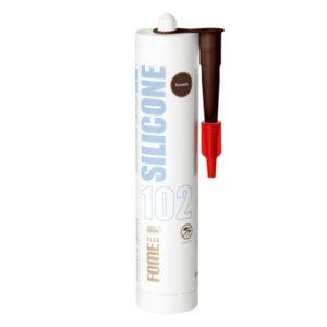 Герметик силиконовый FOME FLEX SANITARY SILICON 102 коричневый