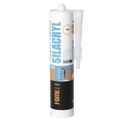 Герметик силиконовый FOME FLEX Silacryl белый