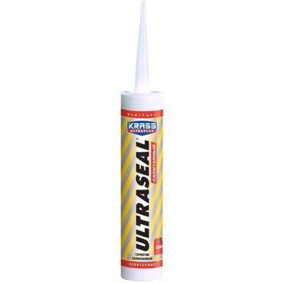 Герметик силиконовый KRASS Ultraseal санитарный белый