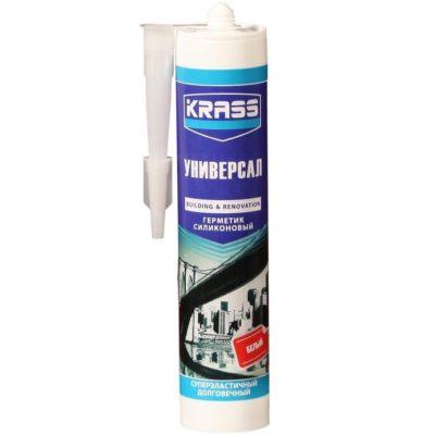 Герметик силиконовый KRASS универсальный белый
