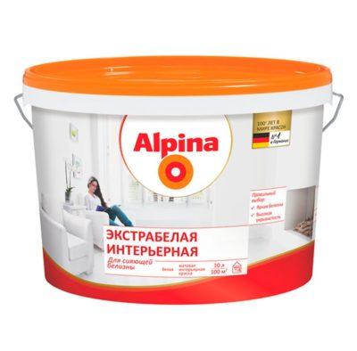 Краска Alpina экстрабелая интерьерная