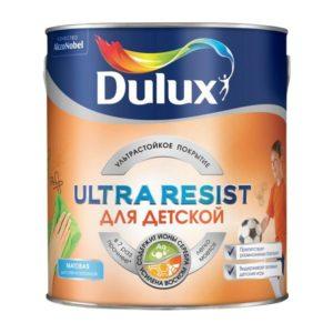 Краска Dulux Ultra Resist для детской стен и потолков матовая