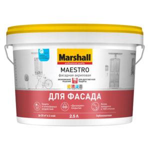 Краска Marshall Maestro Фасадная Акриловая 2,5л