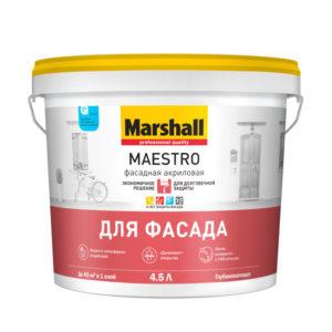 Краска Marshall Maestro Фасадная Акриловая 4,5 л