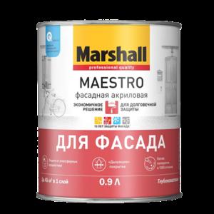 Краска Marshall Maestro Фасадная Акриловая для фасад. поверх. глубокомат.база ВС 0,9л