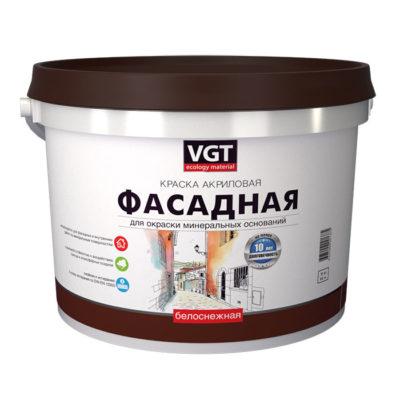 Краска белоснежная ВД-АК 1180 фасадная ВГТ