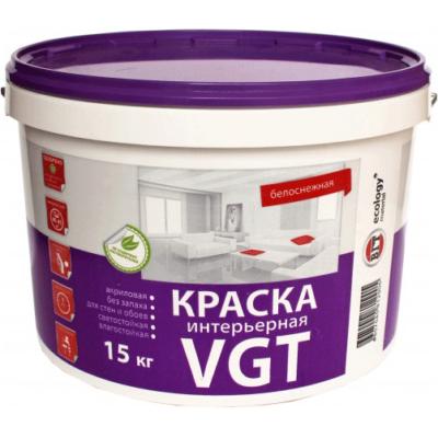 Краска белоснежная ВД-АК 2180 интерьерная влагостойкая 15кг ВГТ