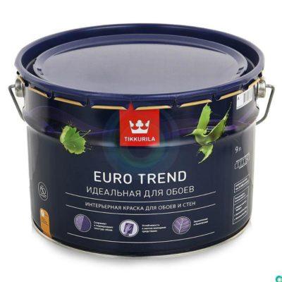 Краска для обоев и стен EURO TREND 9л