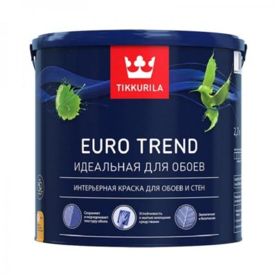 Краска для обоев и стен мат. EURO TREND C 2,7л