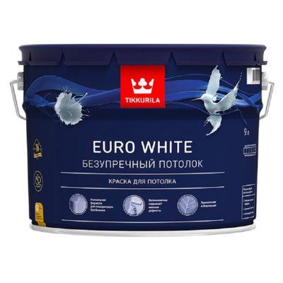 Краска для потолка EURO WHITE 9,0 л