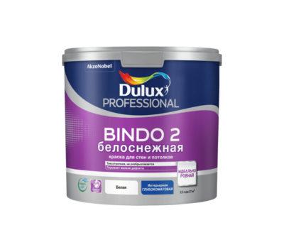Краска для потолка глубокоматовая снежно-белая Bindo 2 Prof 2,5 л