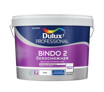 Краска для потолка глубокоматовая снежно-белая Bindo 2 Prof 9л