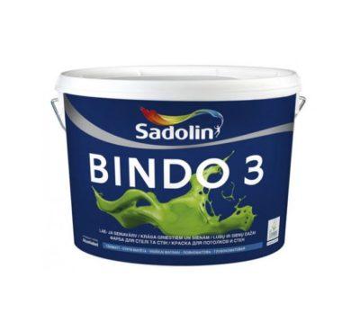 Краска для стен и потолков BINDO 3 Sadolin