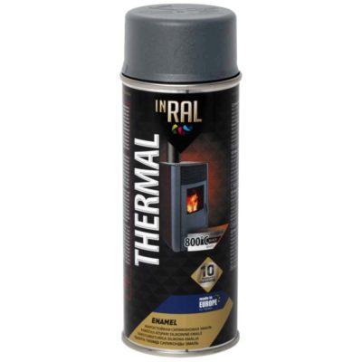 Эмаль аэрозол. жаростойкая INRAL THERMAL алюминиевая