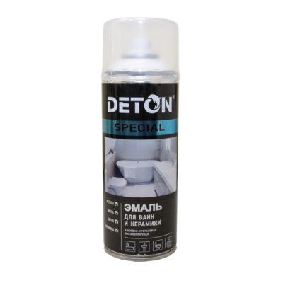 Эмаль аэрозольная для ванн и керамики DETON