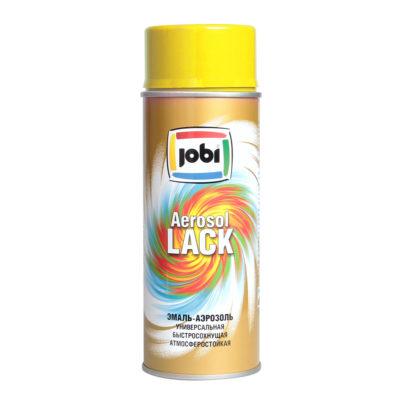 Эмаль аэрозольная глянцевая JOBI желтая