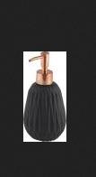 Дозатор для жидкого мыла AXENTIA Chicago из черной кемики 330мл 128183