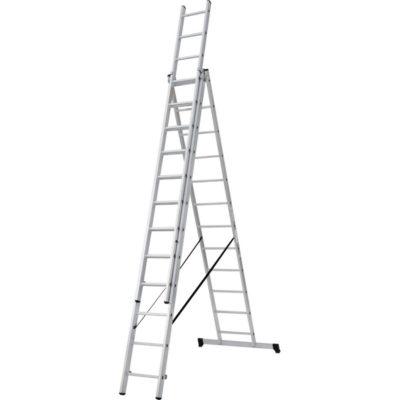 Лестница трехсекционная 14 ступеней Новая высота