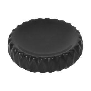 Мыльница AXENTIA Chicago из черной керамики круглая