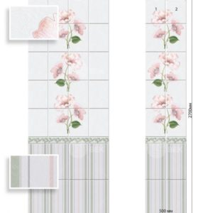 Панели ПВХ Камила розовая вставка