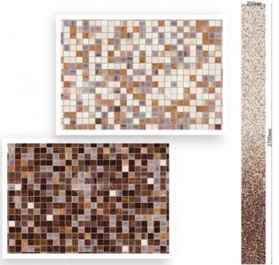 Панель ПВХ Мозаика коричневая