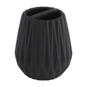 Стакан AXENTIA Chicago для ванной комнаты,черная керамика 128182