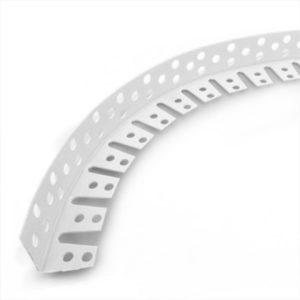 Уголок ПВХ перфорированный арочный